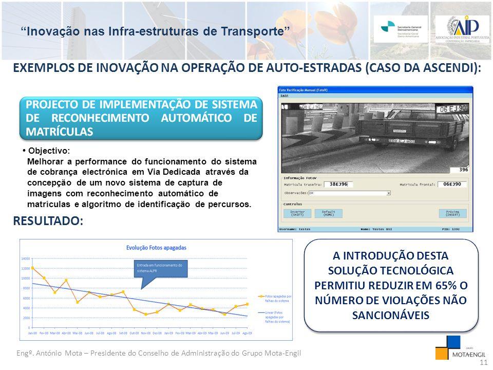 EXEMPLOS DE INOVAÇÃO NA OPERAÇÃO DE AUTO-ESTRADAS (CASO DA ASCENDI):