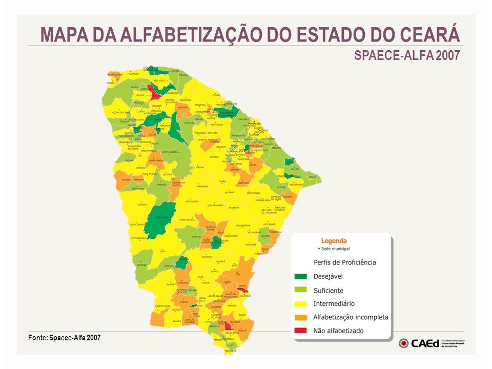MAPA DA ALFABETIZAÇÃO DO ESTADO DO CEARÁ SPAECE-ALFA 2007