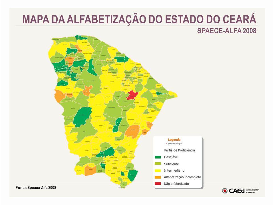 MAPA DA ALFABETIZAÇÃO DO ESTADO DO CEARÁ SPAECE-ALFA 2008