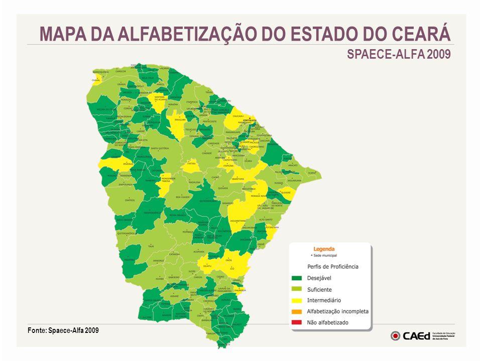 MAPA DA ALFABETIZAÇÃO DO ESTADO DO CEARÁ SPAECE-ALFA 2009