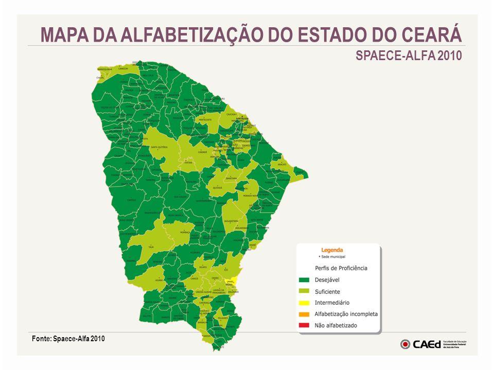 MAPA DA ALFABETIZAÇÃO DO ESTADO DO CEARÁ SPAECE-ALFA 2010