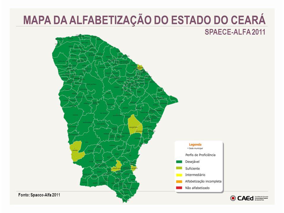MAPA DA ALFABETIZAÇÃO DO ESTADO DO CEARÁ SPAECE-ALFA 2011