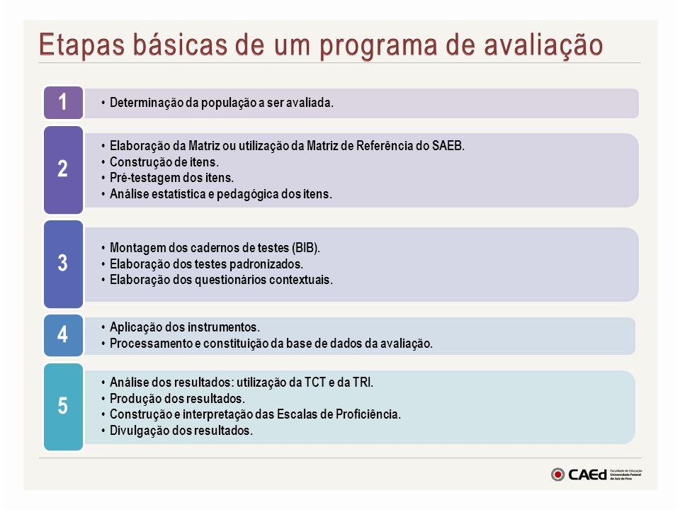 Etapas básicas de um programa de avaliação