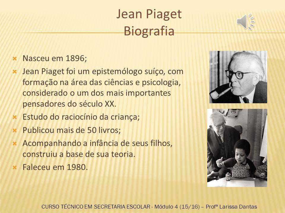 Jean Piaget Biografia Nasceu em 1896;