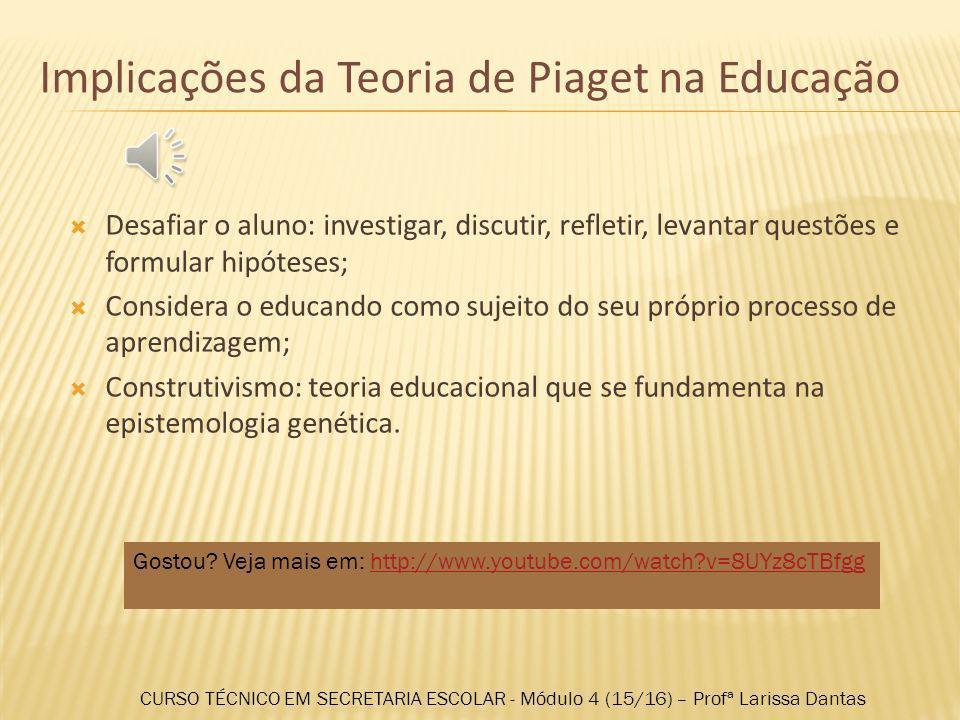 Implicações da Teoria de Piaget na Educação
