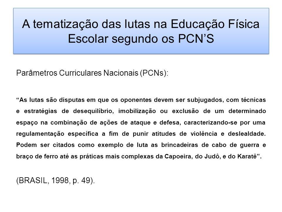 A tematização das lutas na Educação Física Escolar segundo os PCN'S
