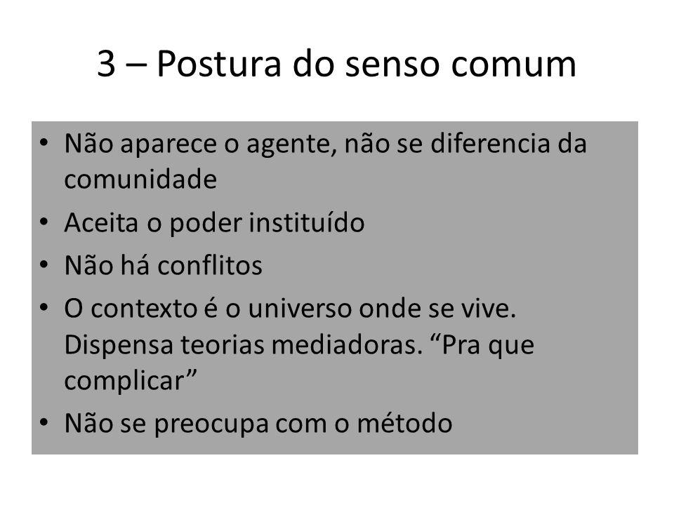 3 – Postura do senso comum