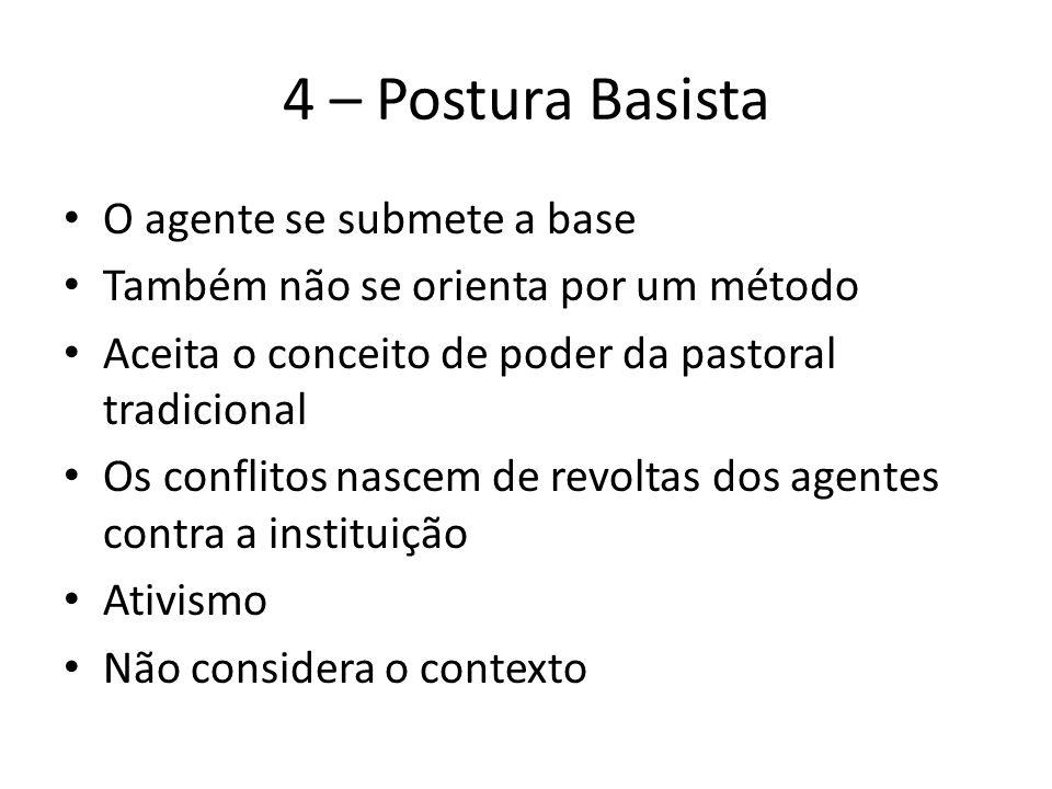 4 – Postura Basista O agente se submete a base