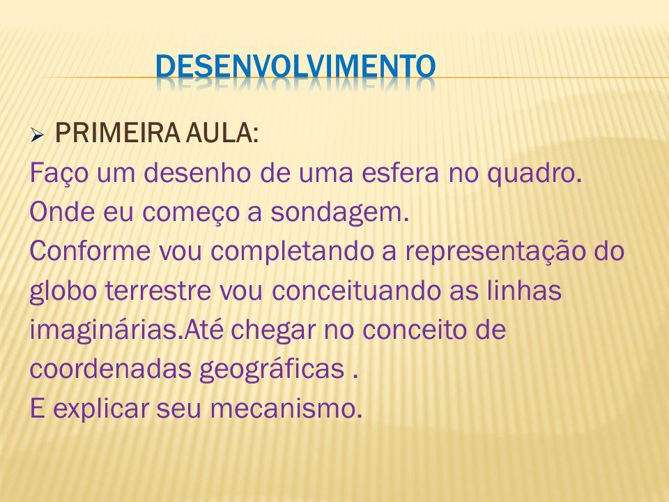 Desenvolvimento PRIMEIRA AULA: