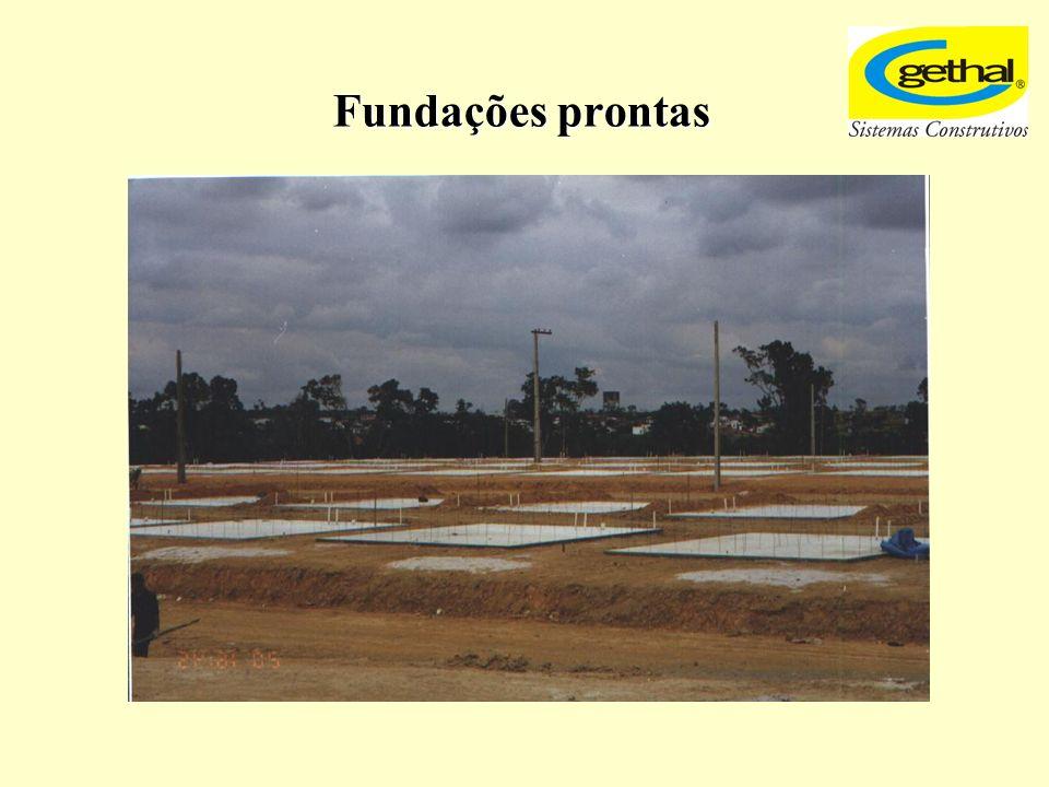 Fundações prontas