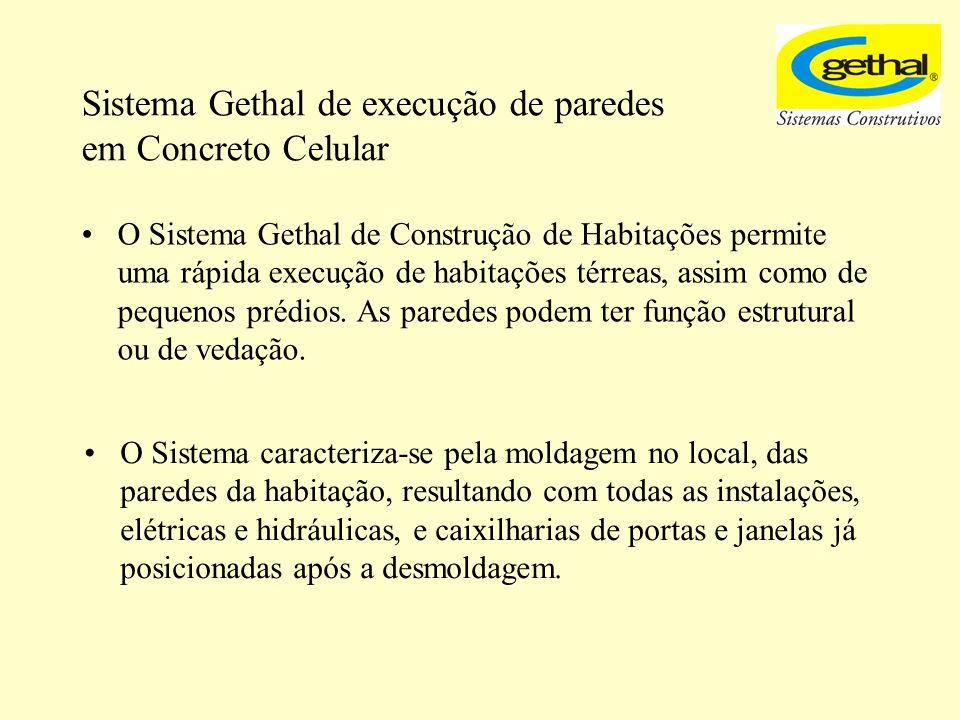 Sistema Gethal de execução de paredes em Concreto Celular