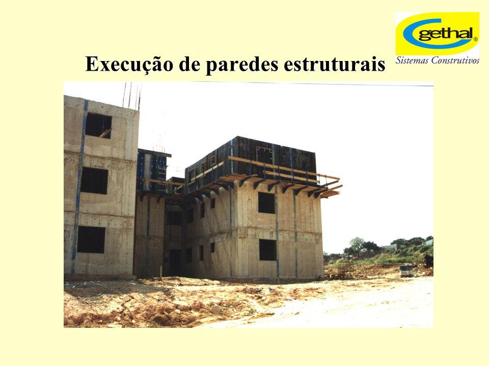 Execução de paredes estruturais