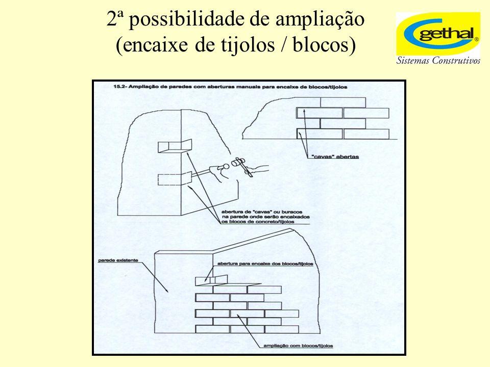 2ª possibilidade de ampliação (encaixe de tijolos / blocos)