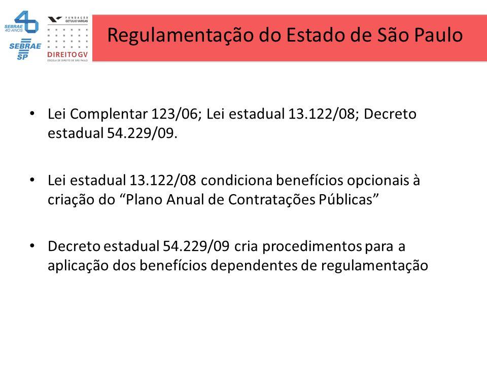 Regulamentação do Estado de São Paulo