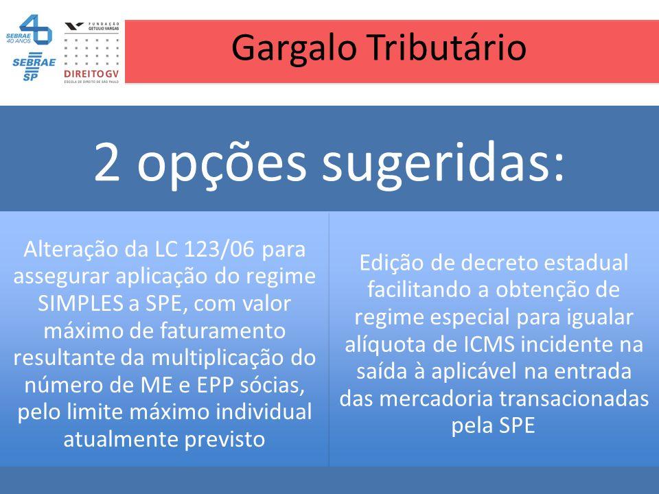Gargalo Tributário 2 opções sugeridas: