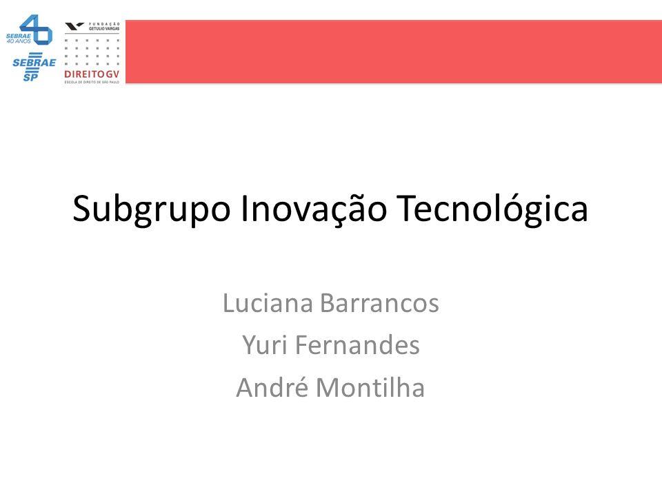 Subgrupo Inovação Tecnológica