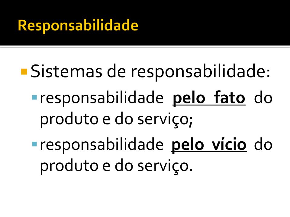 Sistemas de responsabilidade: