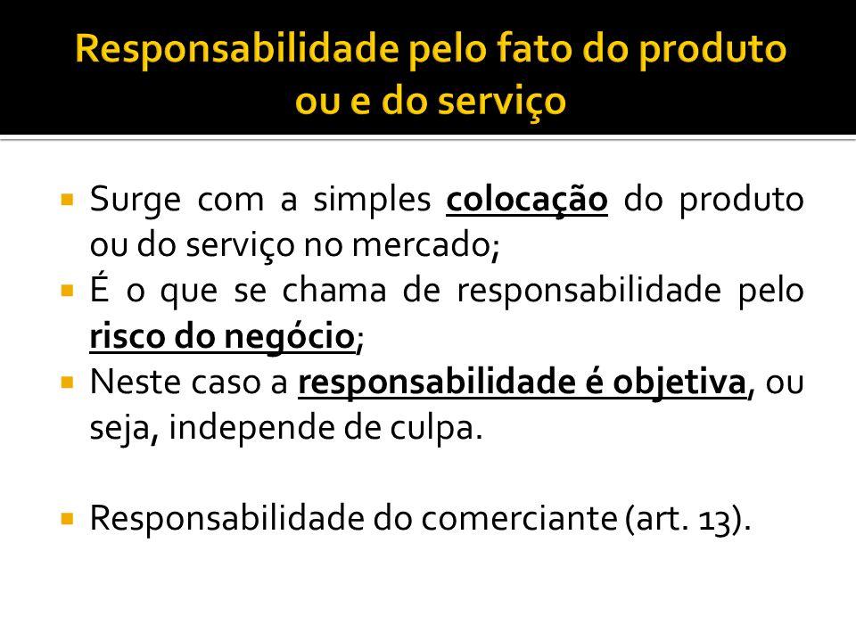 Responsabilidade pelo fato do produto ou e do serviço