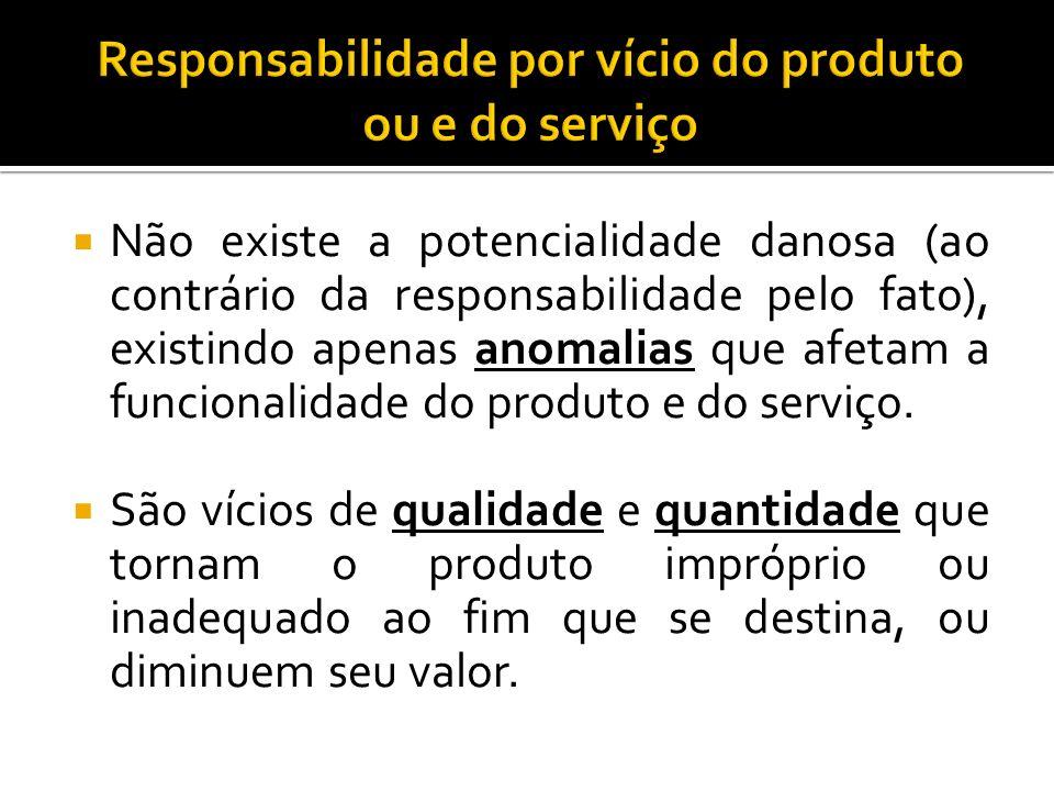 Responsabilidade por vício do produto ou e do serviço