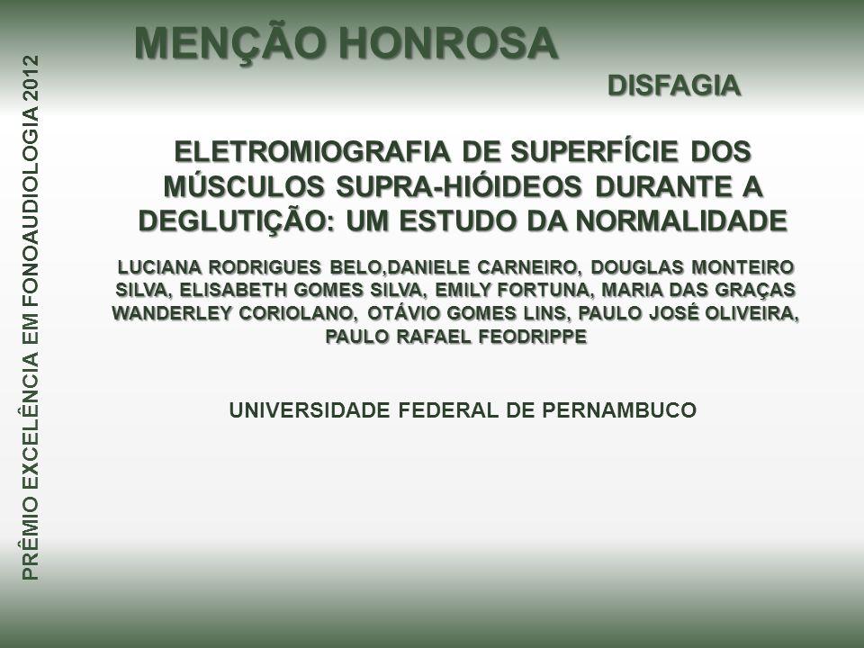 MENÇÃO HONROSA DISFAGIA