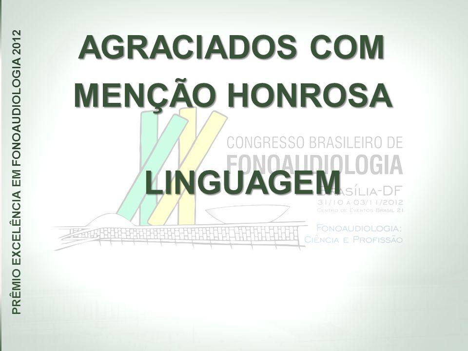 PRÊMIO EXCELÊNCIA EM FONOAUDIOLOGIA 2012