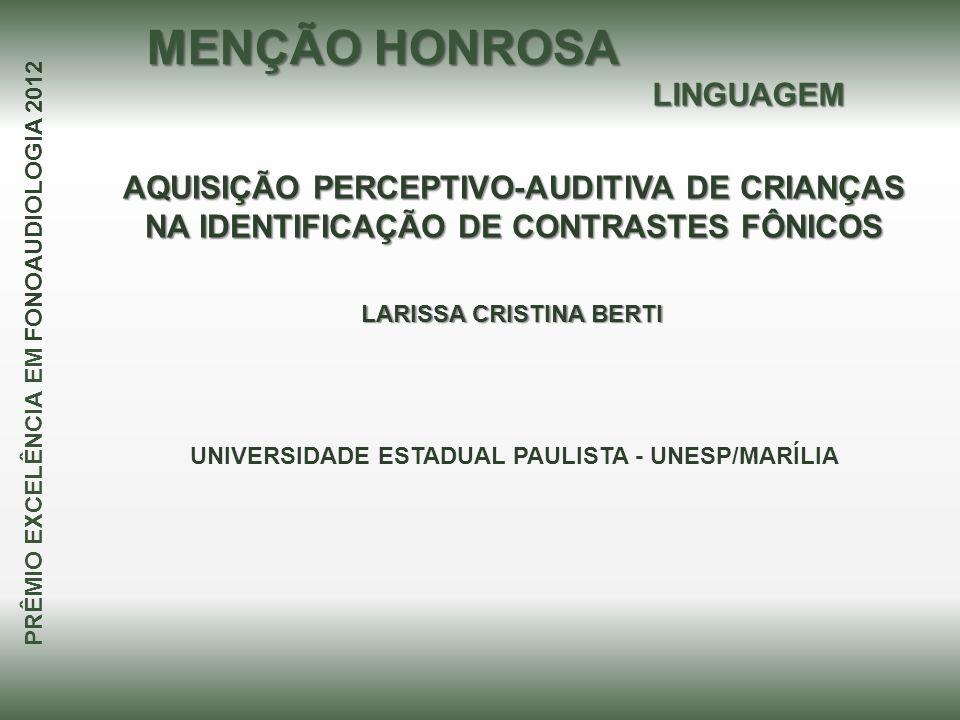 MENÇÃO HONROSA LINGUAGEM