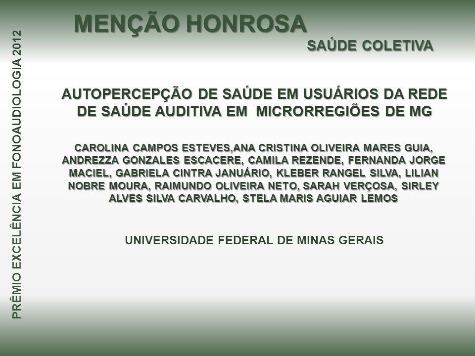 MENÇÃO HONROSA SAÚDE COLETIVA