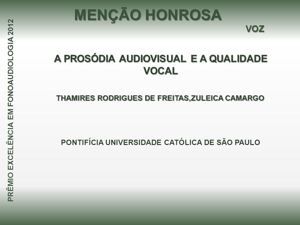 A PROSÓDIA AUDIOVISUAL E A QUALIDADE VOCAL
