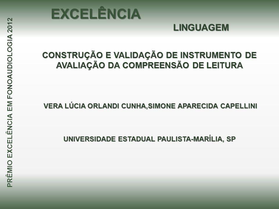 EXCELÊNCIA LINGUAGEM. CONSTRUÇÃO E VALIDAÇÃO DE INSTRUMENTO DE AVALIAÇÃO DA COMPREENSÃO DE LEITURA.