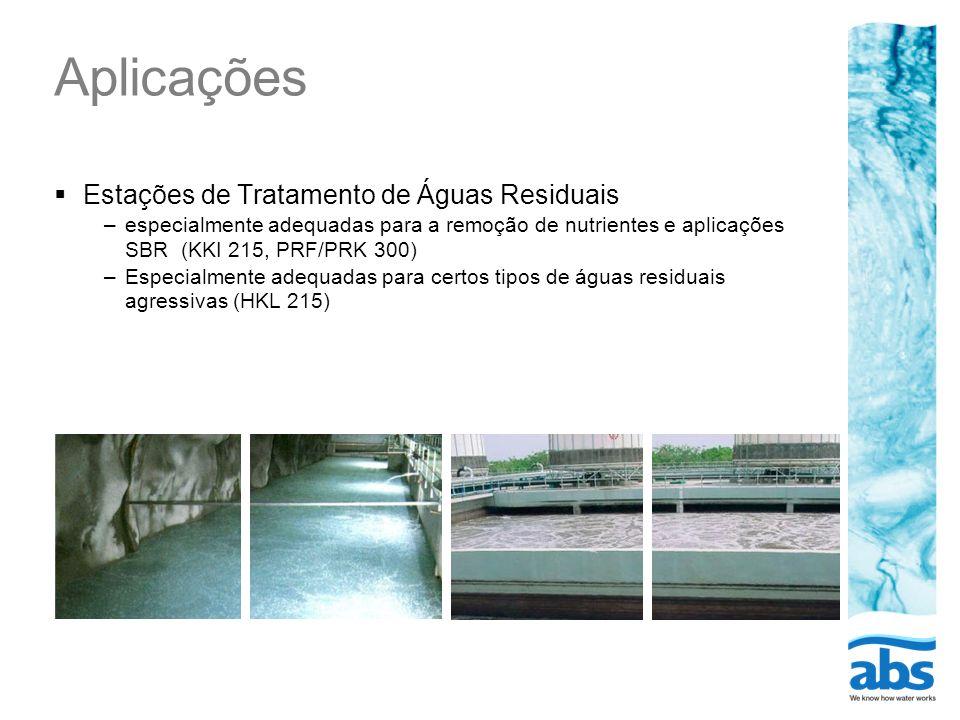 Aplicações Estações de Tratamento de Águas Residuais
