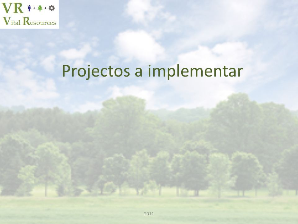 Projectos a implementar