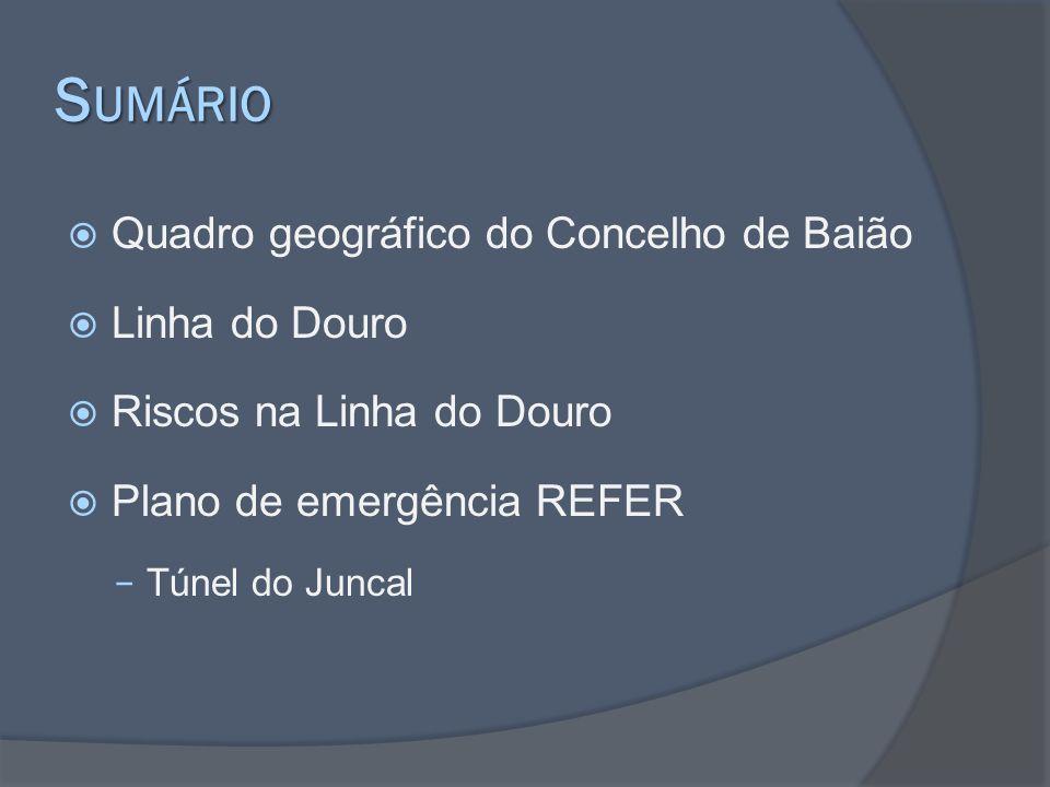 Sumário Quadro geográfico do Concelho de Baião Linha do Douro