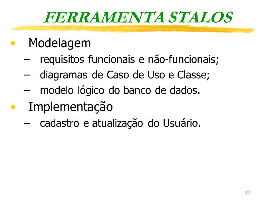 FERRAMENTA STALOS Modelagem Implementação