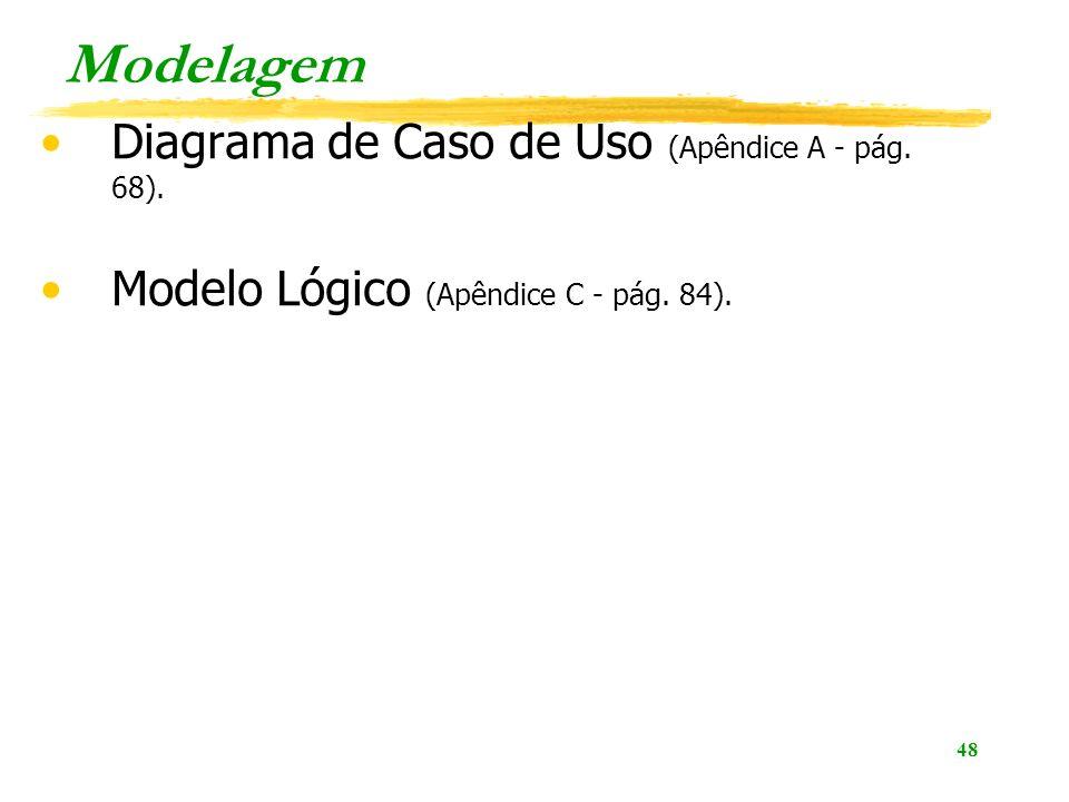 Modelagem Diagrama de Caso de Uso (Apêndice A - pág. 68).