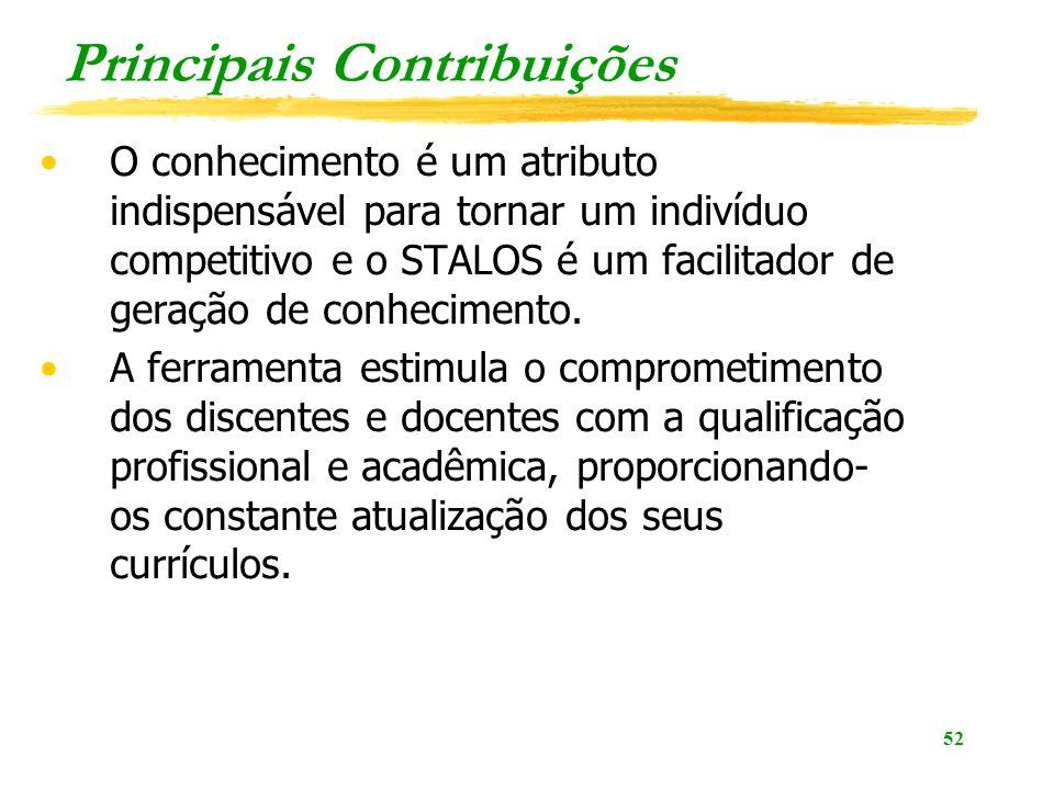 Principais Contribuições