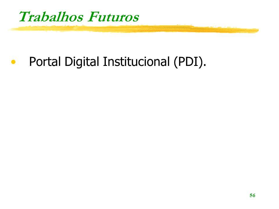 Trabalhos Futuros Portal Digital Institucional (PDI).