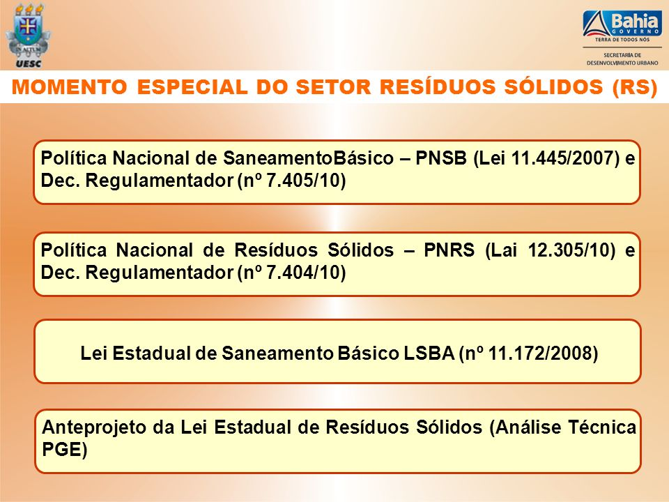MOMENTO ESPECIAL DO SETOR RESÍDUOS SÓLIDOS (RS)