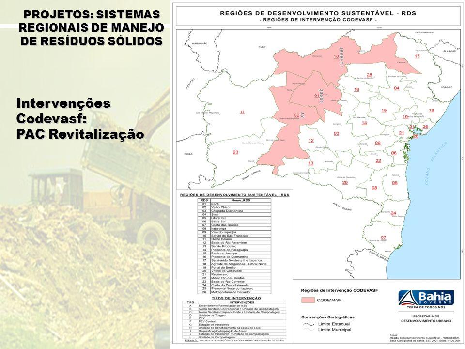 PROJETOS: SISTEMAS REGIONAIS DE MANEJO DE RESÍDUOS SÓLIDOS
