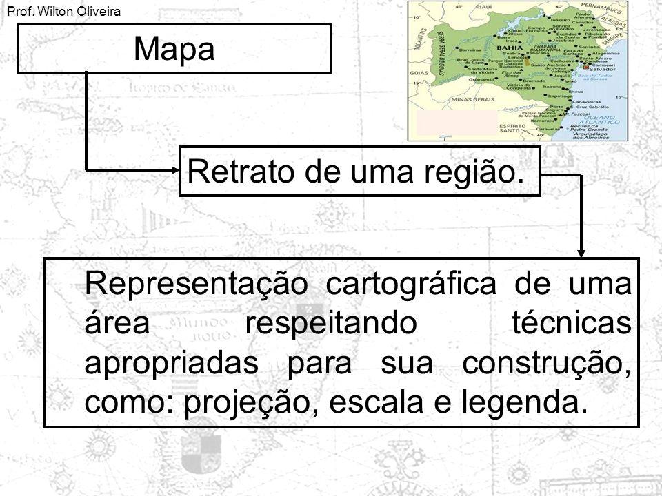 Mapa Retrato de uma região.