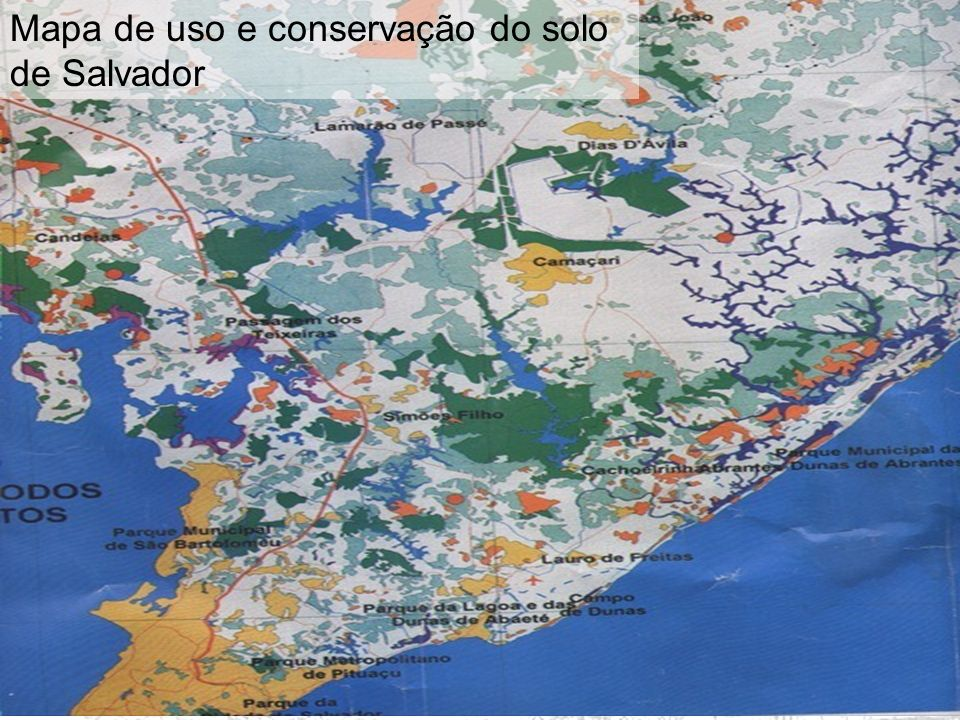 Mapa de uso e conservação do solo de Salvador