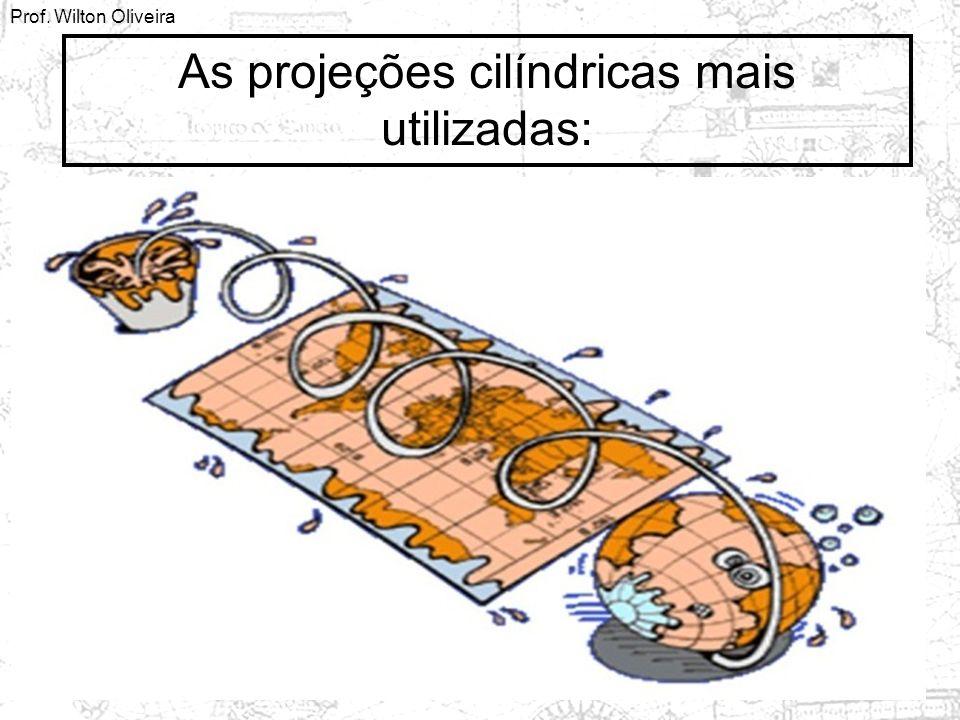 As projeções cilíndricas mais utilizadas: