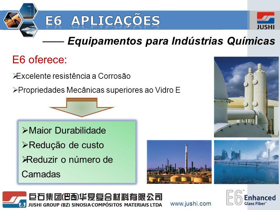 E6 aplicações —— Equipamentos para Indústrias Químicas E6 oferece: