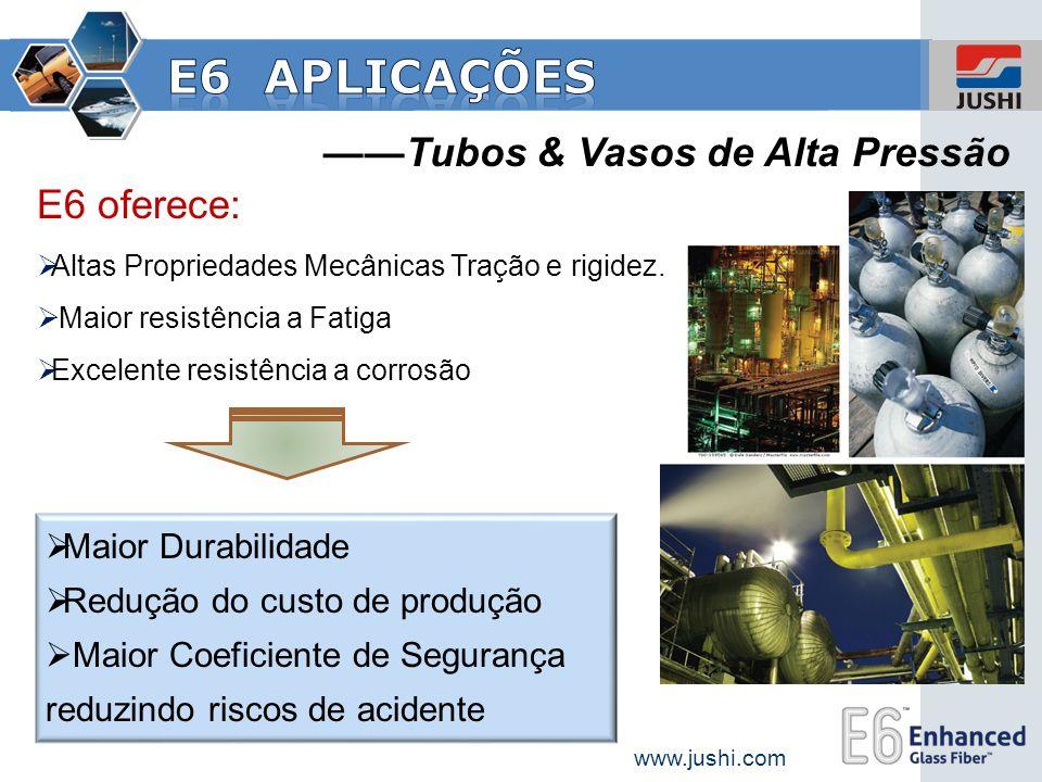 E6 aplicações ——Tubos & Vasos de Alta Pressão E6 oferece:
