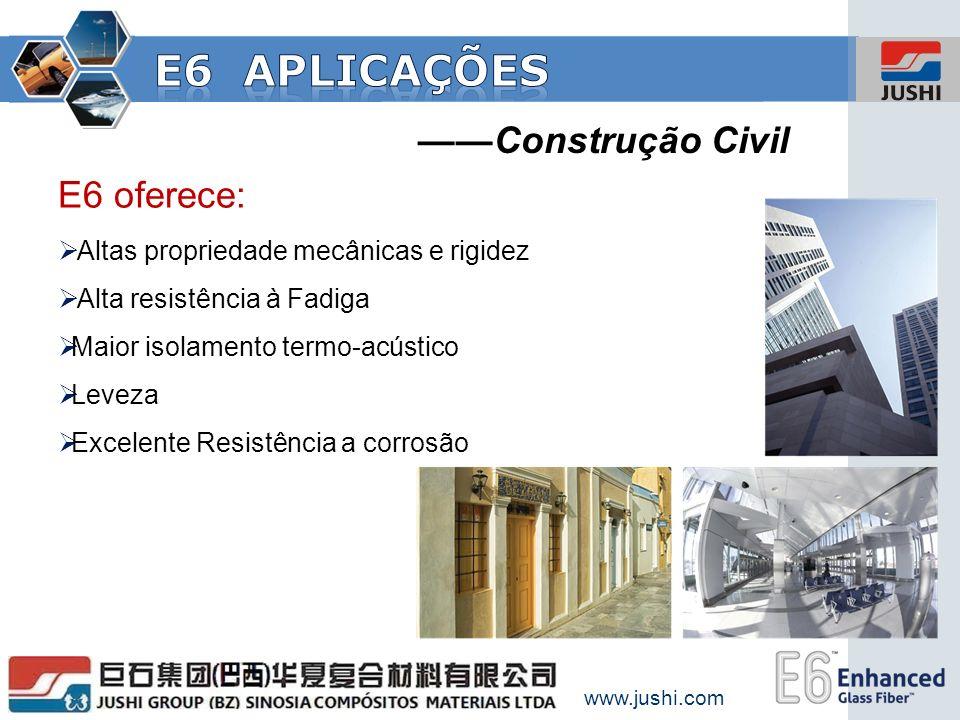 E6 aplicações ——Construção Civil E6 oferece: