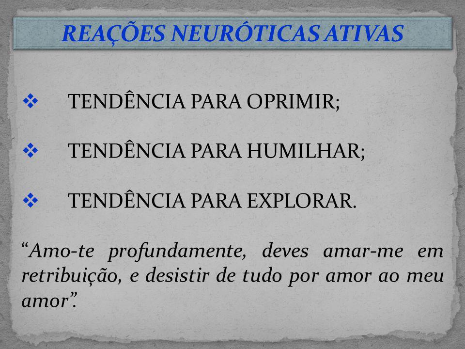 REAÇÕES NEURÓTICAS ATIVAS
