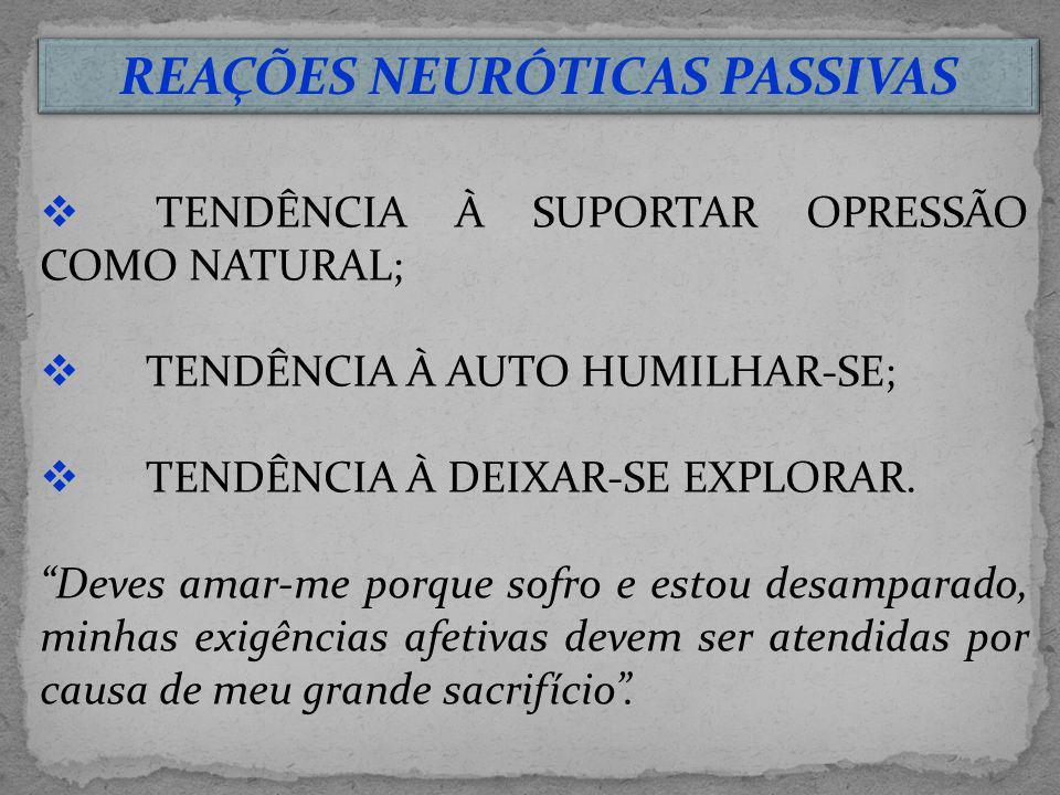 REAÇÕES NEURÓTICAS PASSIVAS