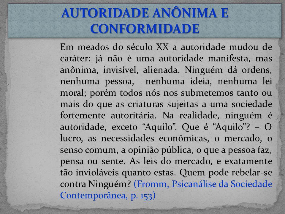 AUTORIDADE ANÔNIMA E CONFORMIDADE
