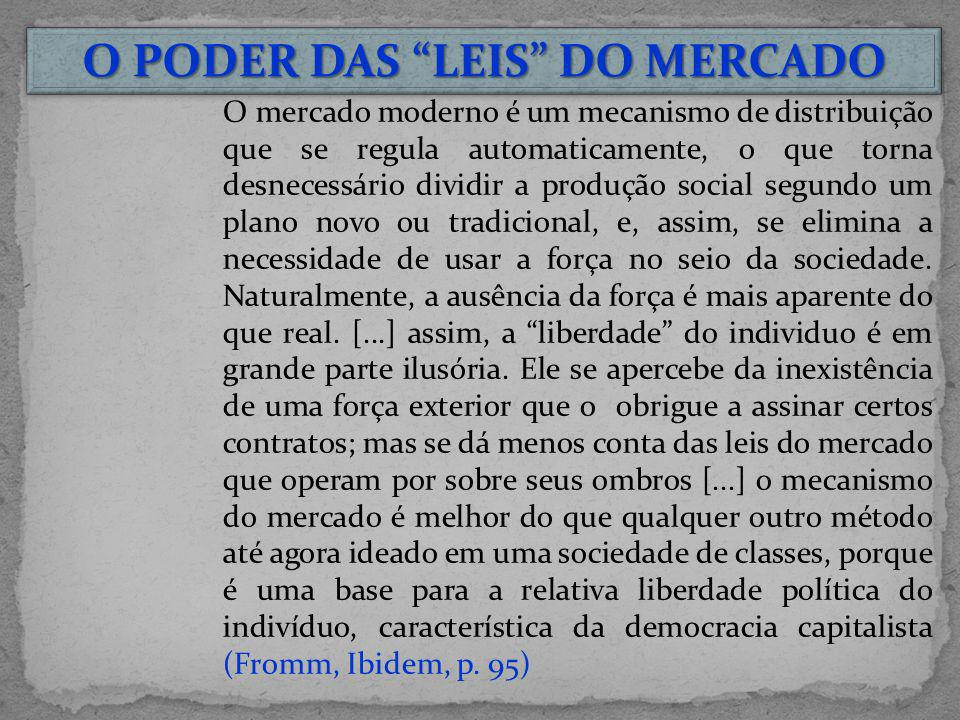 O PODER DAS LEIS DO MERCADO