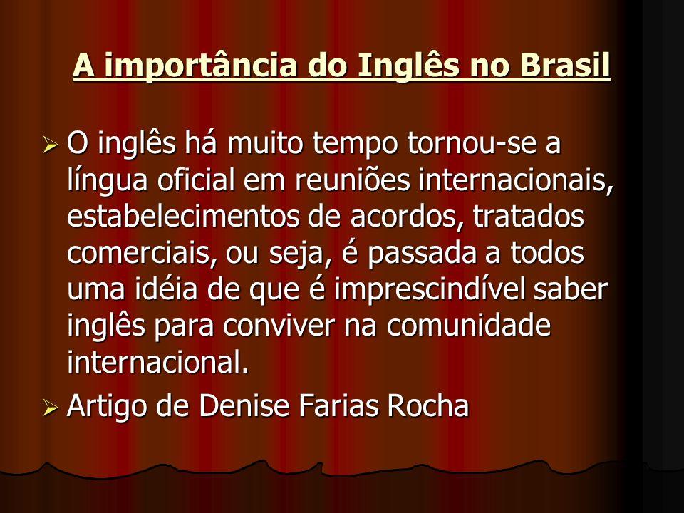 A importância do Inglês no Brasil