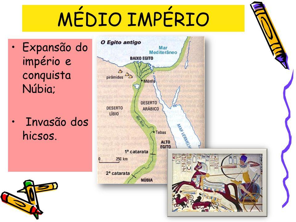 MÉDIO IMPÉRIO Expansão do império e conquista Núbia;